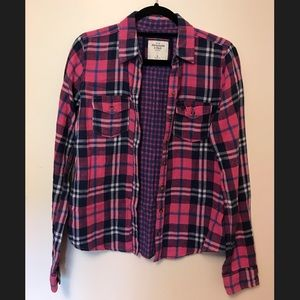 Abercrombie Plaid Shirt Pink